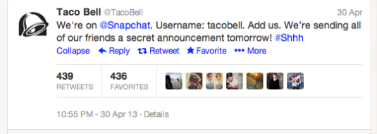Marianne Granum - Snapchat Marketing - Taco Bell